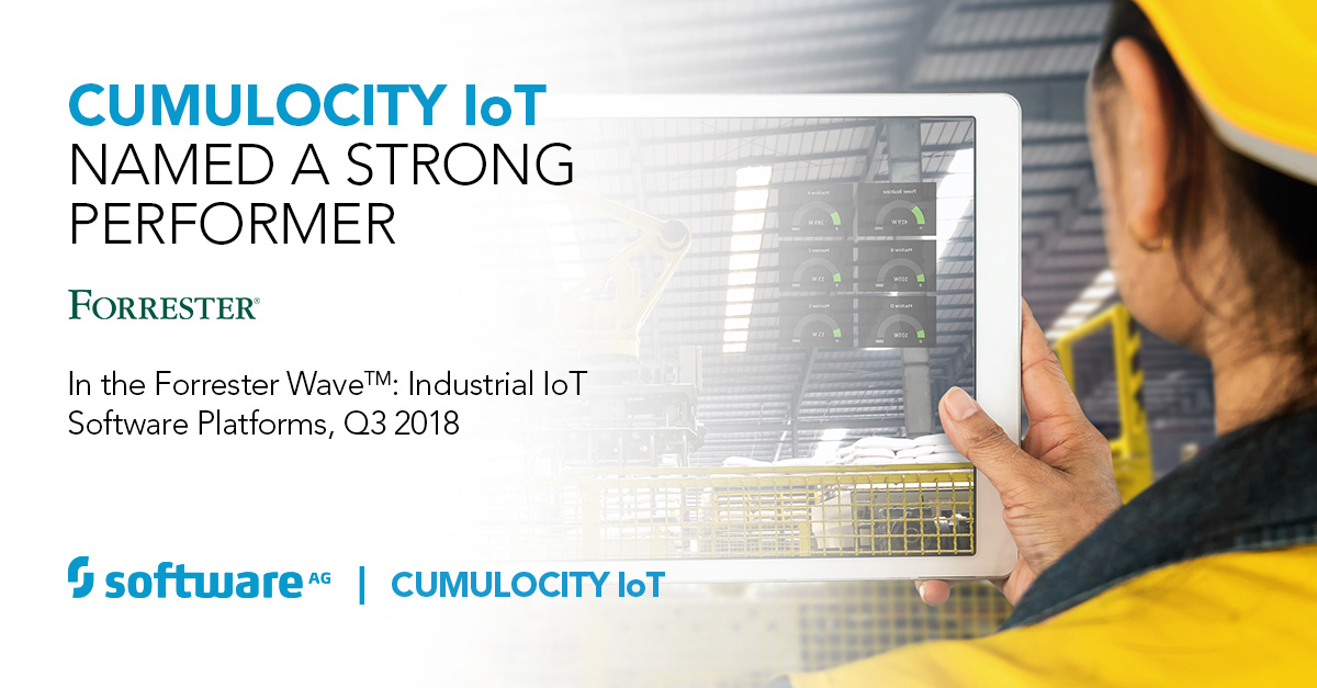 "Software AG's Cumulocity IoT Recognised as a ""Strong Performer"" in Industrial IoT Platform Assessment"