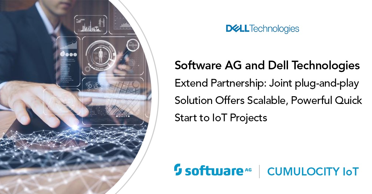 Software AG and Dell Technologies jointly offer plug-and-play IoT solution for rapid deployment and simple configuration based on Cumulocity IoT Edge
